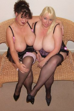 PICTURE SET: Blonde and Brunette Busty Matures