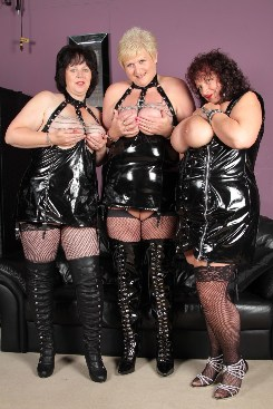 PICTURE SET: Mature Trio In PVC