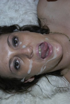 PICTURE SET:  Guys empty loads over Juicy Jo's face