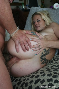 PICTURE SET:  Husband giving anal to his wife