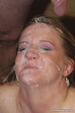 PICTURE SET: Chubby chick drowning in cum facials