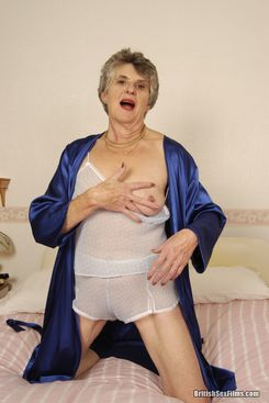 PICTURE SET: Lonely Granny has solo fun