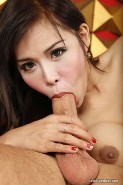 PICTURE SET: Ladyboy Fang sucked and fucked