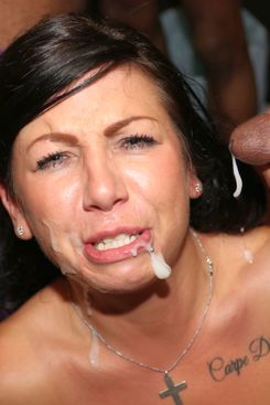 PICTURE SET: Gina Jameson taking loads of cum facials