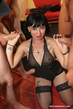 PICTURE SET: Sexy Cleo takes the sticky cumshots