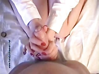Smartly Dressed Holly Gives a Handjob