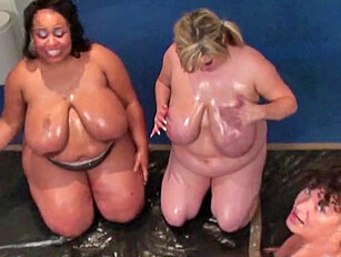 3 Pairs of Big Oily Boobs