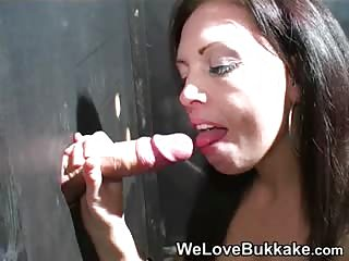 Lucy at the Gloryhole