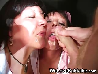 Mature Cocksuckers Dressed as Nurses Eat Cum