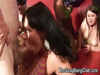 Peaches & Saphire Gangbang Orgy #2