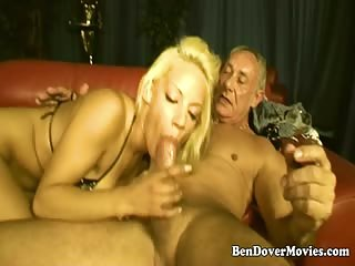 Blonde Cutey Lou Lou Loves Old Cock