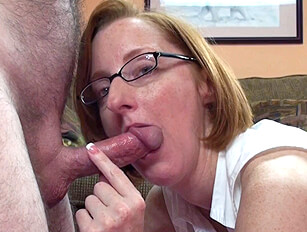 Ginger haired glasses wearing wife