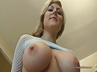 Big boobed blonde rims ass and deepthroats cocks then takes facials