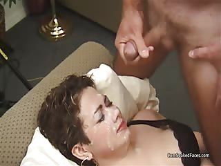 Next door amateur gets destroyed by cum facials