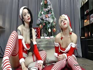 Festive Threesome Fun with Ben Dover and two Santa chicks