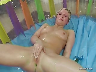 Lorna Lace lubed with a dildo