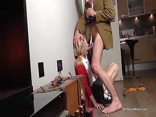 Student blowjob and facial with older man