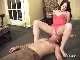 MILF Rose Woods dominates a unlucky guy