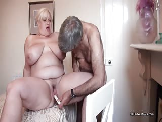Big and busty mature Gina evening dinner fuck