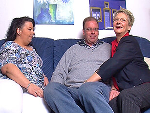 Mature couples threesome with a BBW