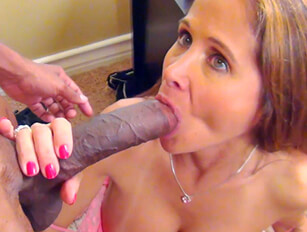 Petite amateur MILF takes on huge black cock