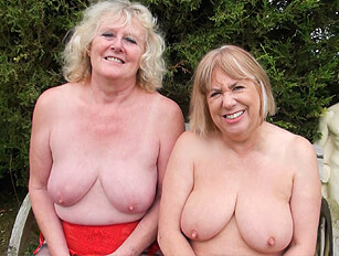 Mature British blondes on the building site
