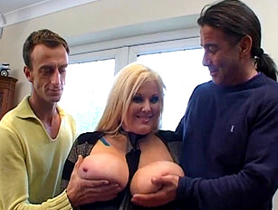 Large breasted Kirsty Halborg get double penetrated