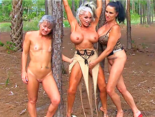 Three mature outdoor cocksuckers