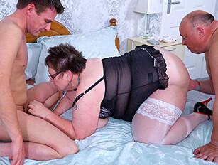 Bisexual mature threesome