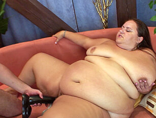 Huge bellied BBW fingered, toyed and fucked