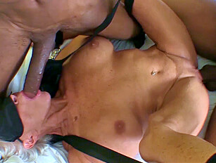 Mature lady tied, blidfolded and used by 2 black men