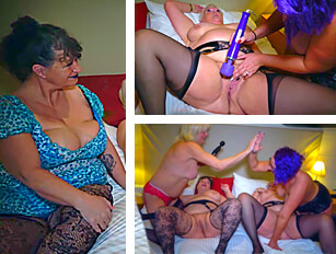 Older, bigger girls getting toyed by younger ladies