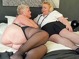 Blonde BBW grannies and their sex toys
