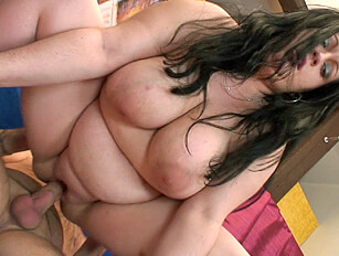 Using fingers, tongue, toys and cock on a dark haired shaved BBW