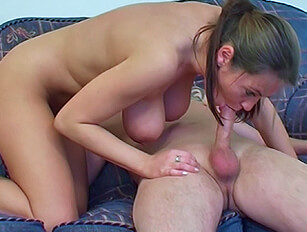 Heavy hanging busty Alexis May taking a good banging