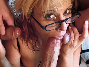 Getting rough with Crystal and double penetrating her