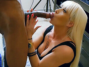 The cute blonde with a huge black cock