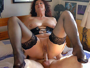 Shaven mature wife takes a fuck and gets cum in her mouth