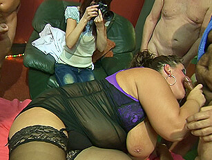 Cock suckers BBW Dani and skinny Trinity doing what they do best
